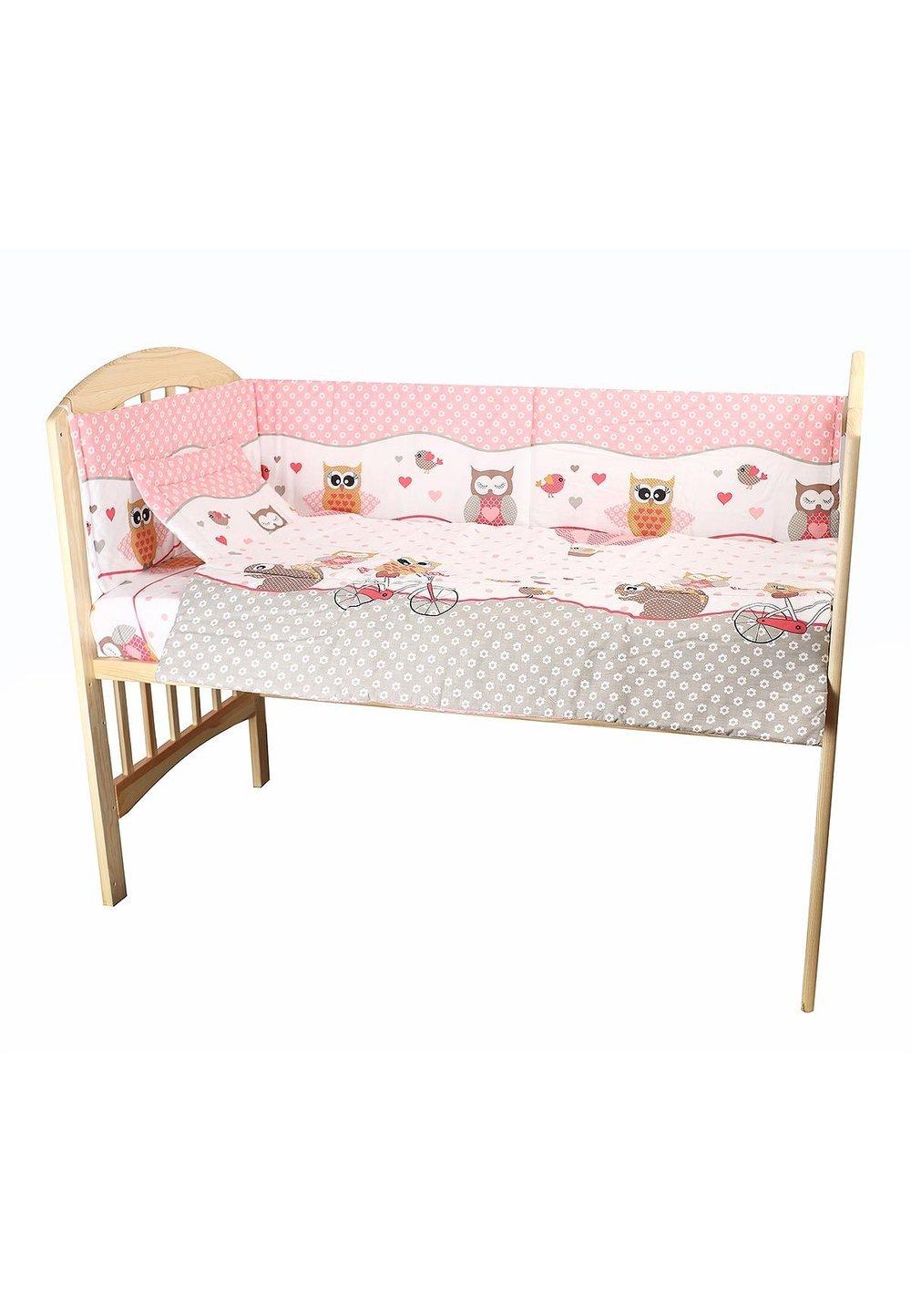 Set 2 aparatori, Bufnite roz, 180x30 cm imagine