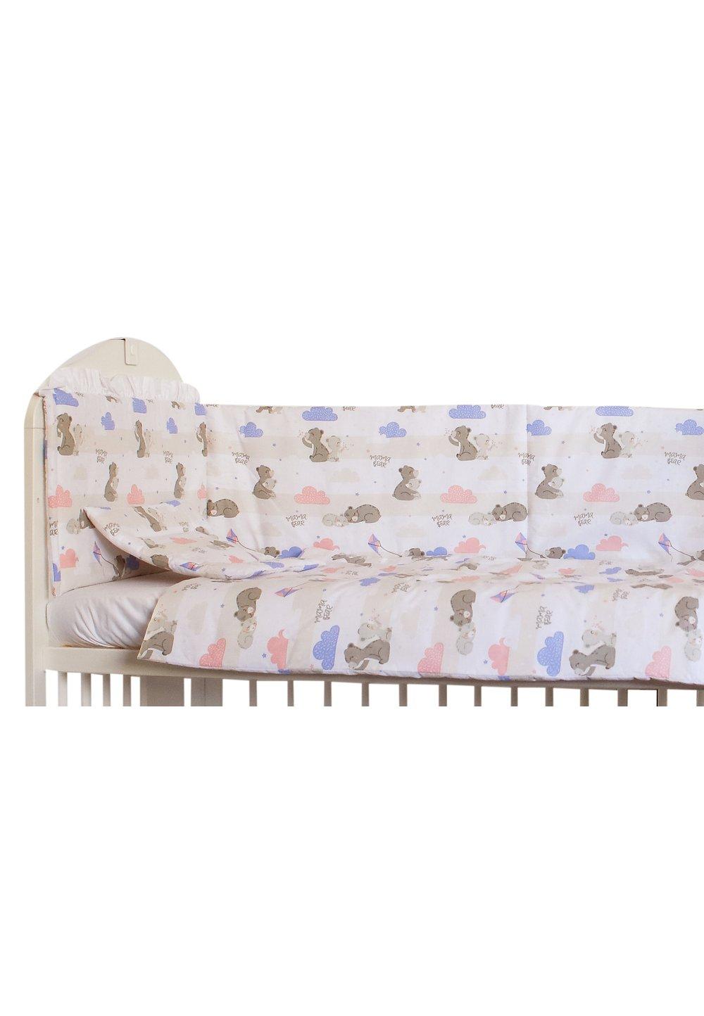 Set 2 aparatori, Mama Bear roz, 180 x 30 cm imagine