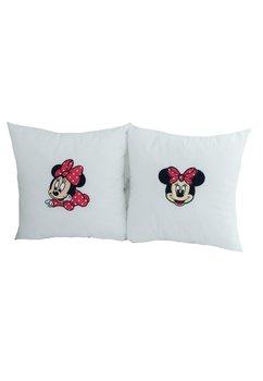Set 2 perne, albe, Minnie Mouse, 35x35 cm