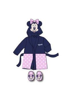Set 2 piese, halat de baie si papuci de camera, Minnie Mouse, roz