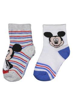 Set 2 sosete, Mickey, gri cu albastru