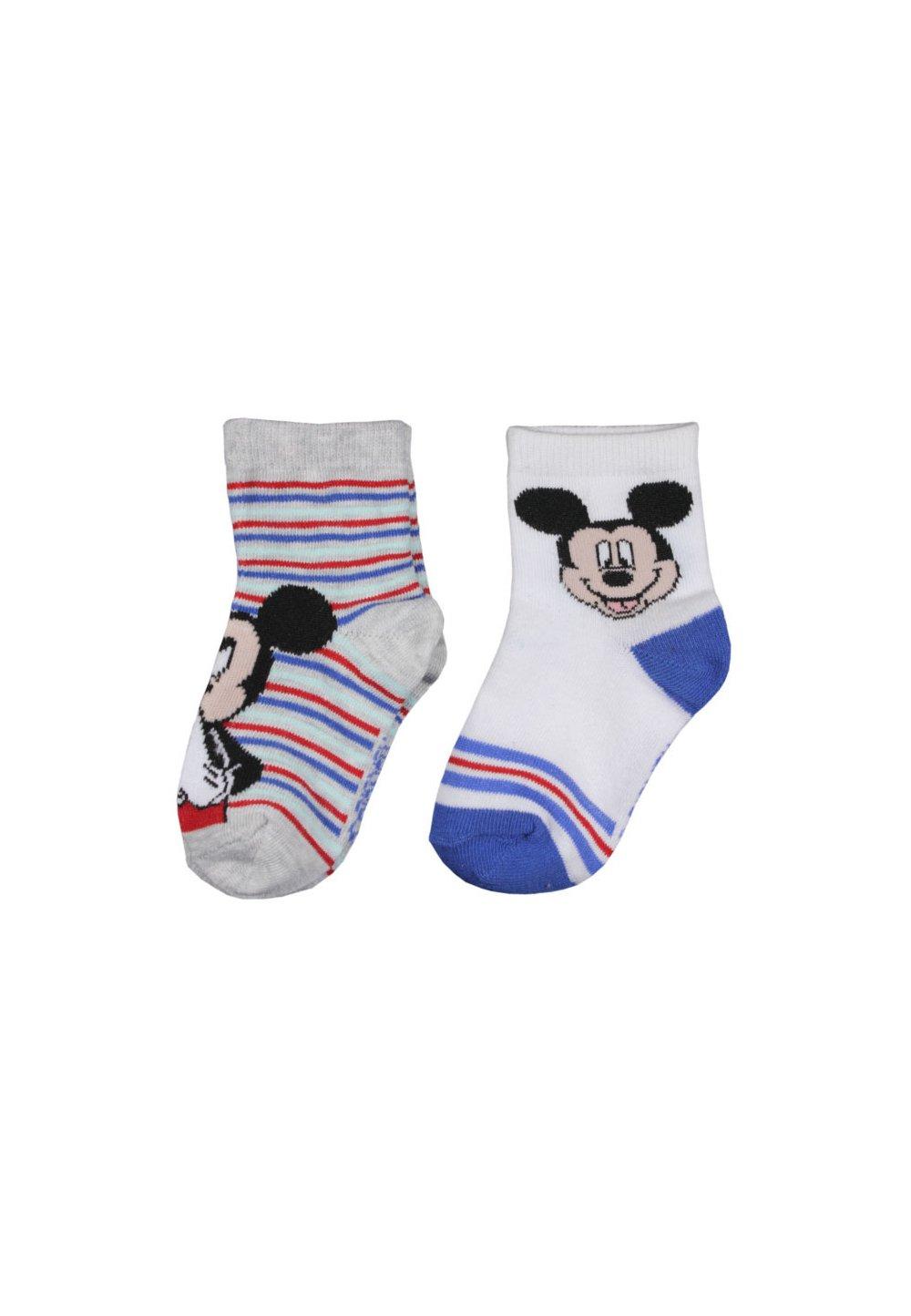 Set 2 sosete, Mickey, gri cu albastru imagine