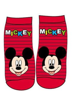 Set 2 sosete, Mickey, rosu cu gri