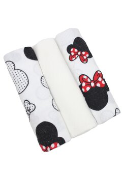 Set 3 scutece, Minnie si Mickey, 80x70cm