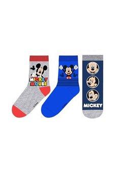 Set 3 perechi de sosete, gri, Mickey Mouse