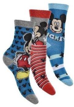 Set 3 sosete, Mickey, gri cu albastru