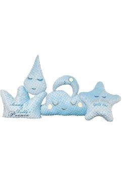 Set 5 pernute Minky, albastre
