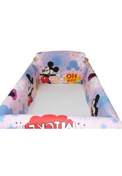 Set aparatoare patut, Maxi, Minnie si Mickey, roz, 120x60cm