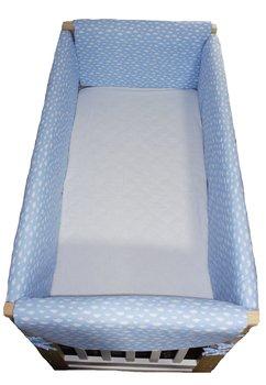 Set aparatoare patut, Maxi, norisor albastru, 120 x 60 cm
