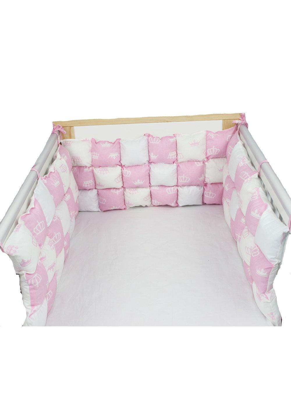 Set aparatori pufoase, coronite roz, 3 x 60 cm imagine