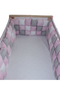 Set aparatori pufoase, roz cu buline, 3 x 60 cm
