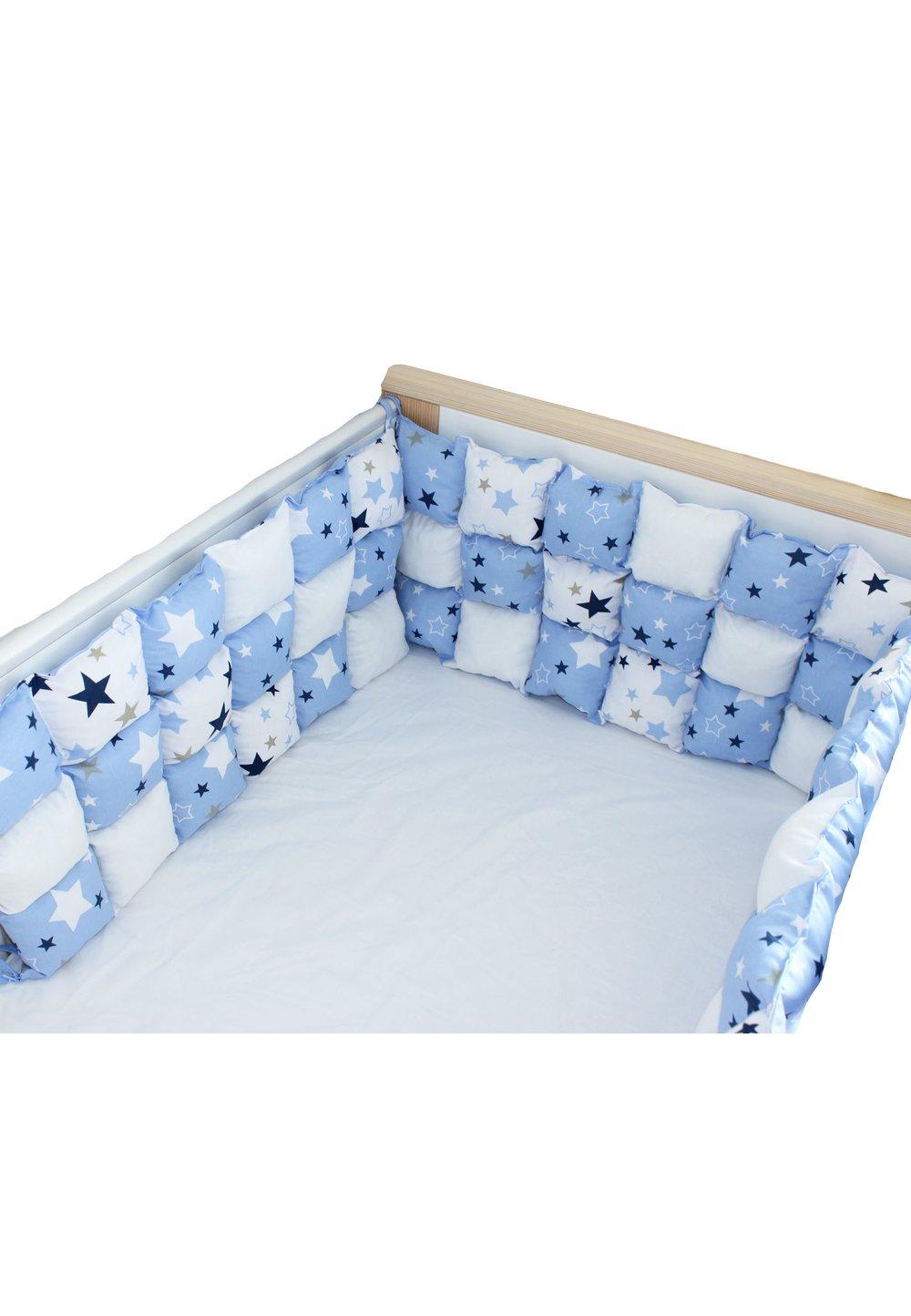 Set aparatori pufoase, stelute, albastre, 3 x 60 cm imagine