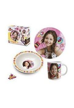 Set mic dejun, ceramic, Soy Luna Roz