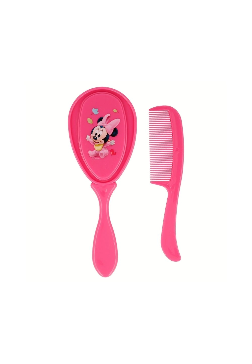Set perie si piaptan, Baby Minnie Mouse, roz imagine