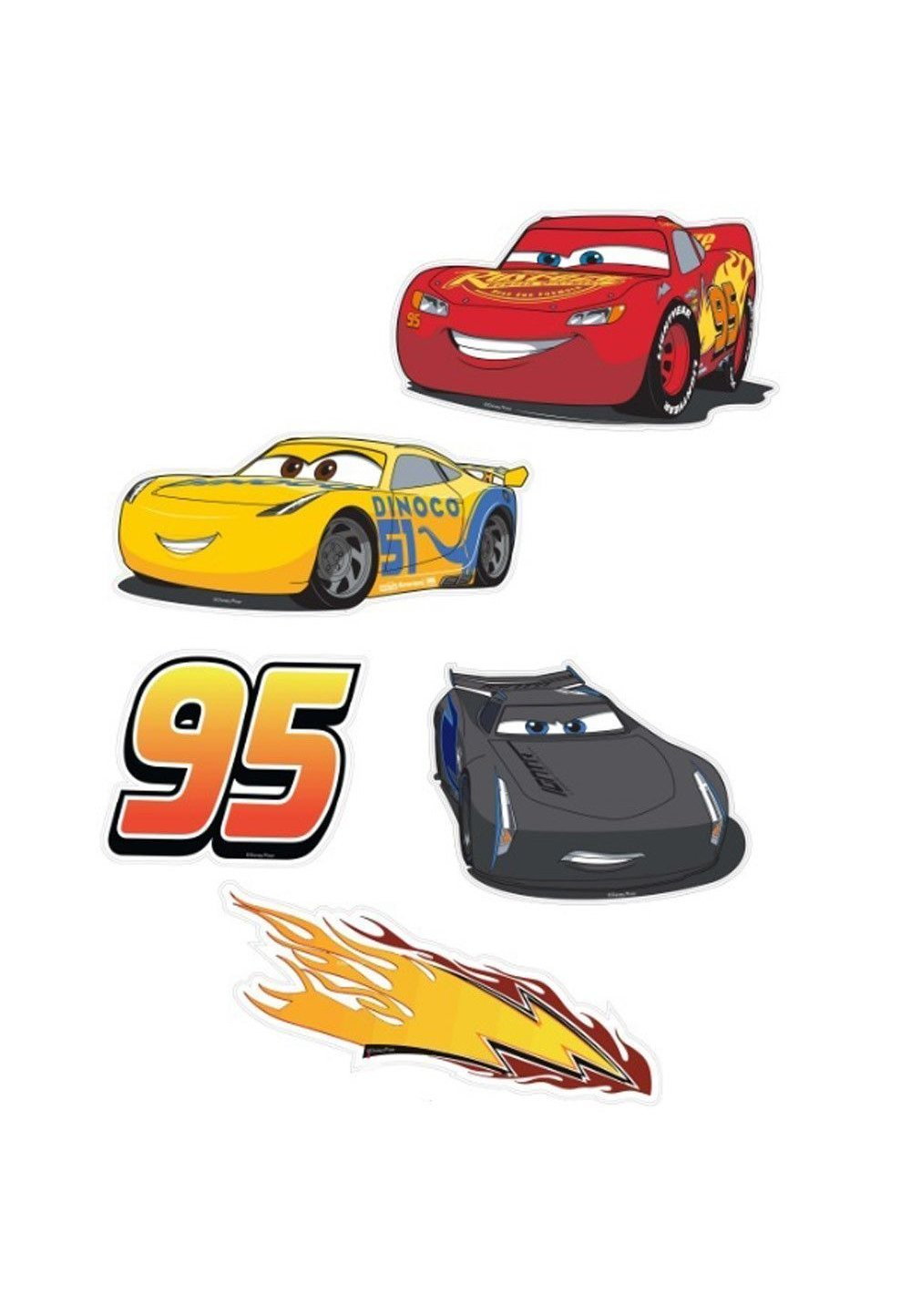 Set stickere, pentru perete, Cars imagine