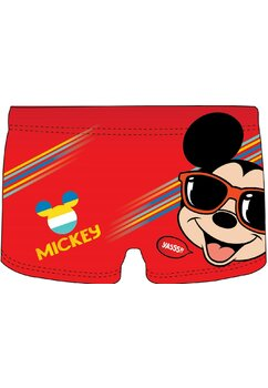 Slip de baie, Mickey cu ochelari de soare, rosu