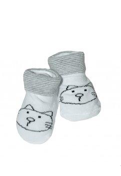 Sosete bebe, pisicute, albe