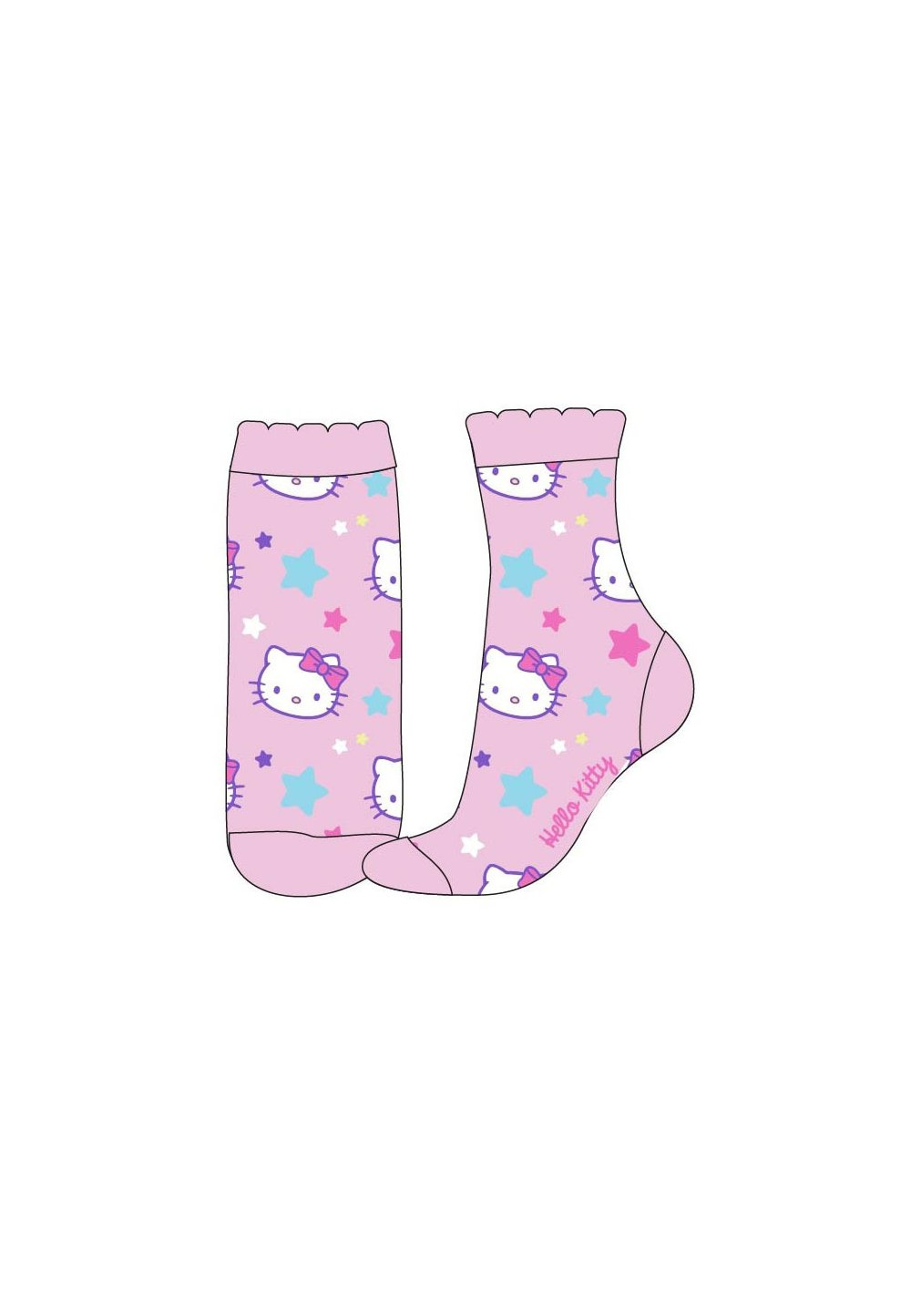 Sosete roz deschis, Hello Kitty imagine