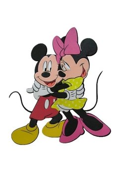 Sticker perete, Mickey si Minnie imbratisati