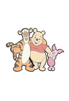 Sticker perete, Winnie si prietenii, multicolor, 19x15 cm