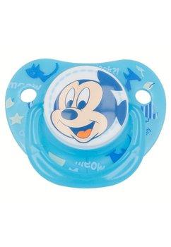 Suzeta cu tetina din silicon, albastra, Mickey Mouse, 0-6 luni