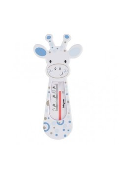 Termometru pentru baie, girafa alba cu buline albastre