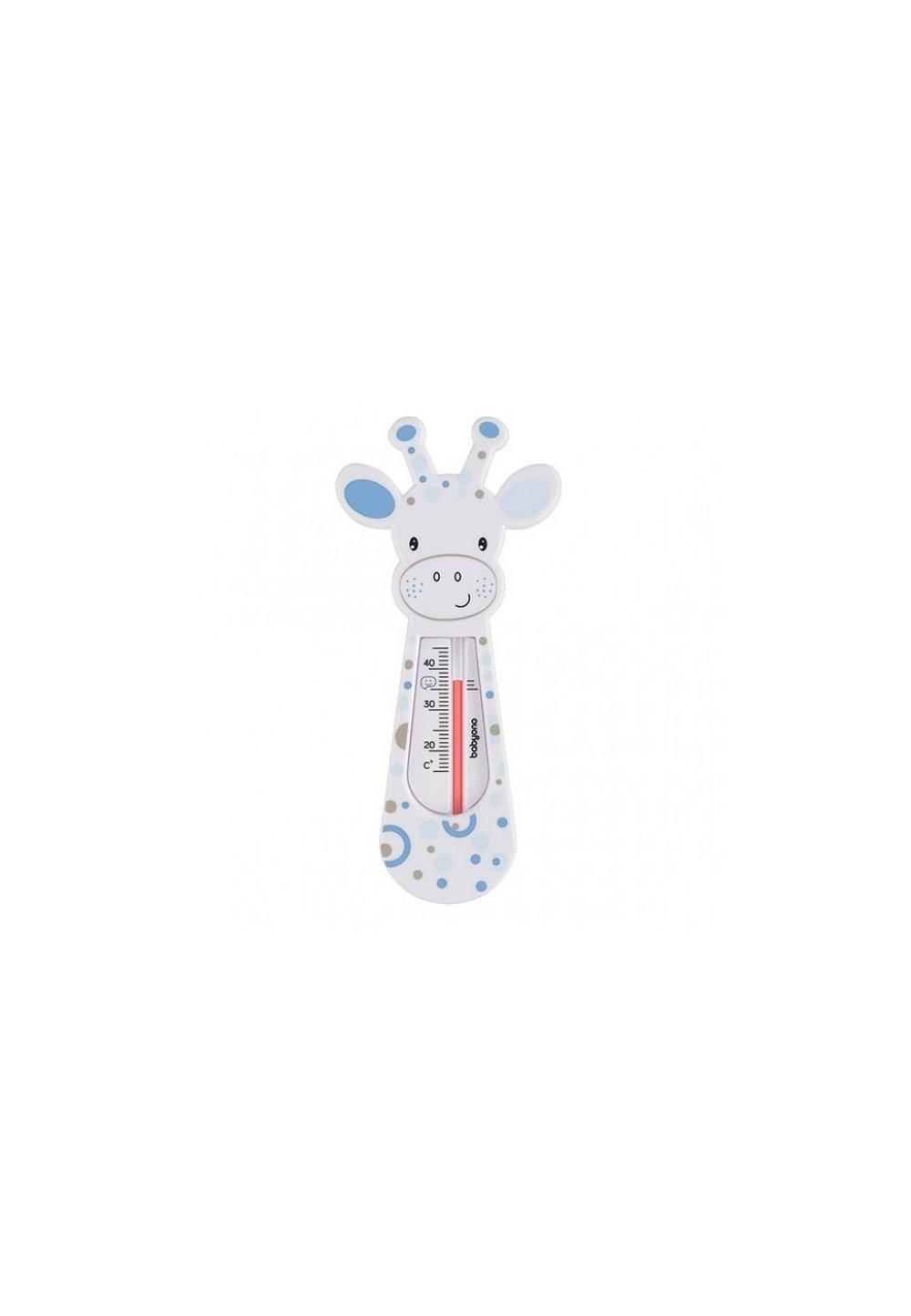 Termometru pentru baie, girafa alba cu buline albastre imagine