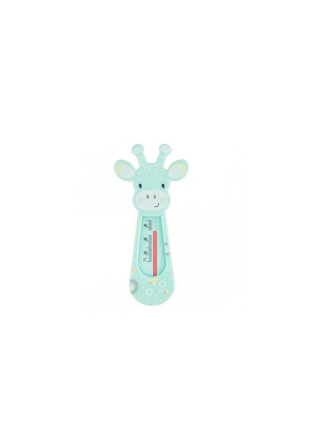 Termometru pentru baie, girafa turcoaz cu buline imagine