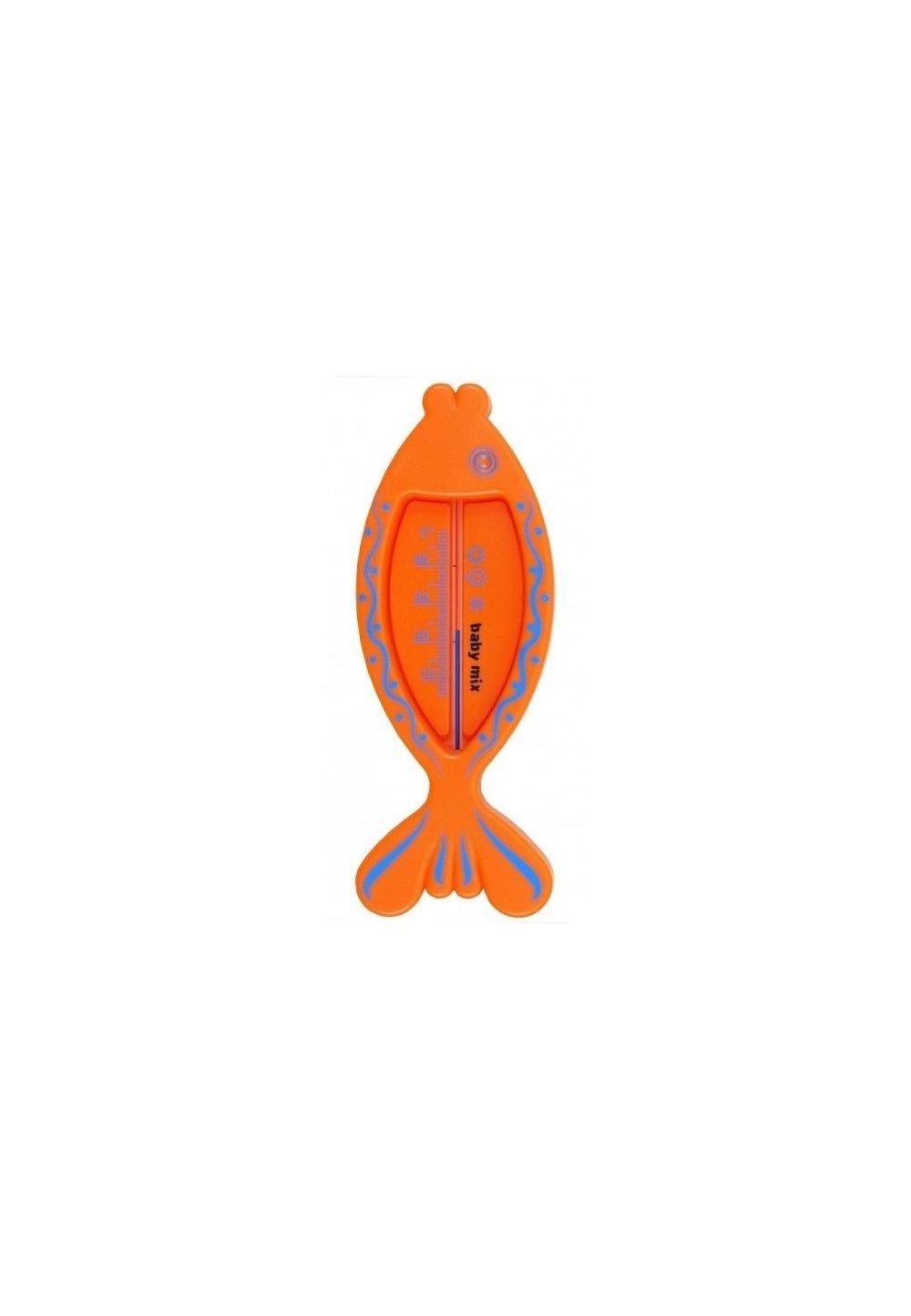 Termometru pentru baie, pestisor portocaliu imagine