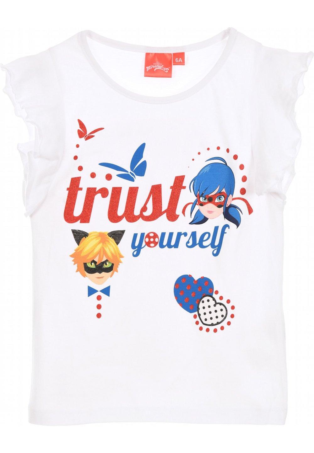Tricou alb, Trust yourself imagine