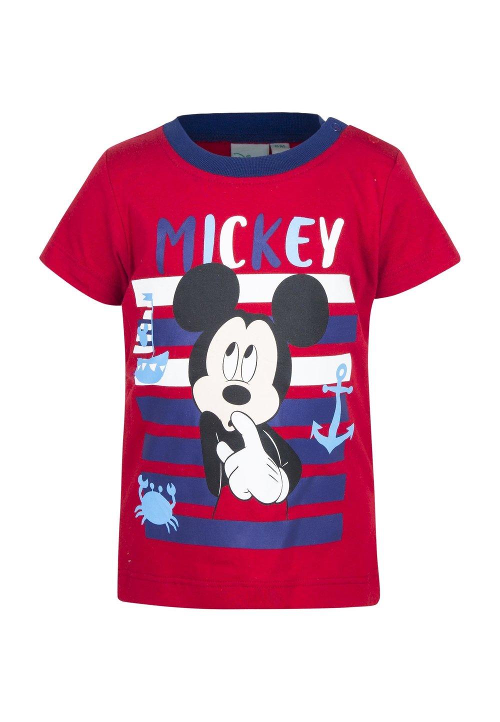 Tricou bebe, rosu, Mickey imagine