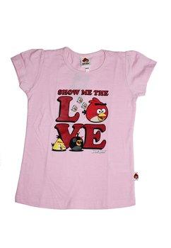 Tricou fete, Angry birds, roz