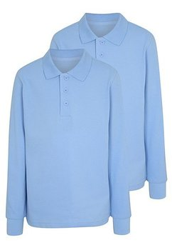 Tricou, maneca lunga, albastru