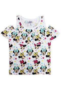 Tricou, Minnie Mouse, alb cu stele