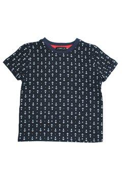 Tricou negru cu ancore