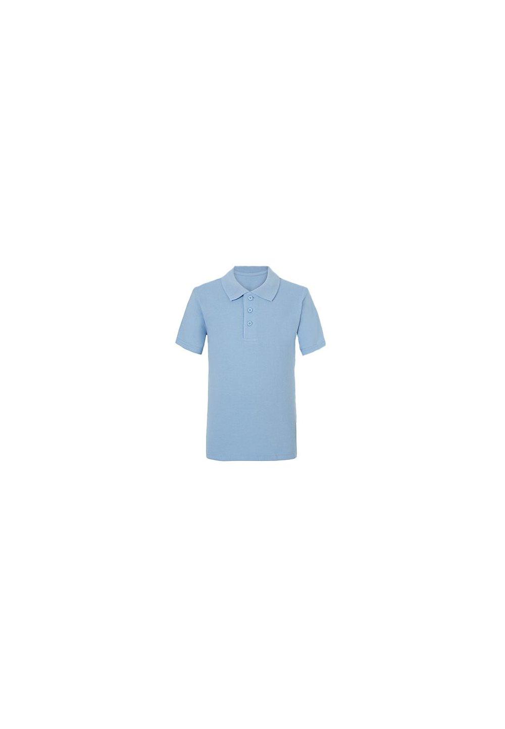 Tricou polo, albastru deschis, baieti imagine