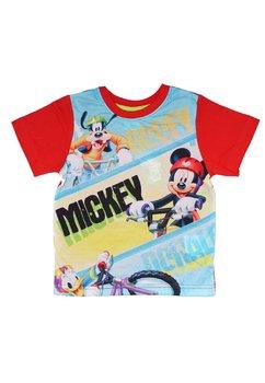 Tricou rosu, Goofy, Mickey si Donald