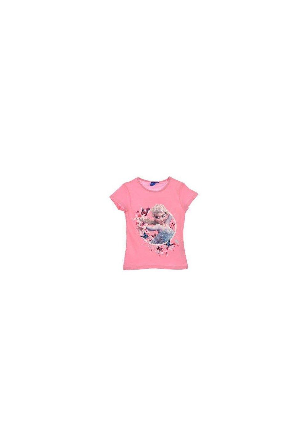 Tricou, roz cu fluturi, Elsa imagine