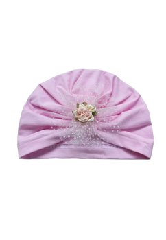 Turban, roz cu floare roz