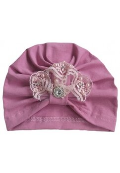 Turban, roz cu margelute