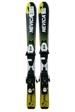 Ski Nevica Vail 4.5 Set In81 Black/Yellow + Legaturi Salomon