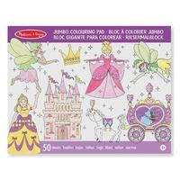 Caiet jumbo cu desene pentru colorat Printese si zane Melissa and Doug