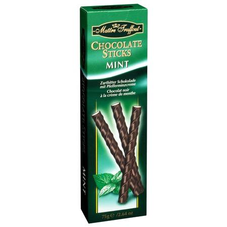 Chocolate sticks mint Maitre Truffout 75gr