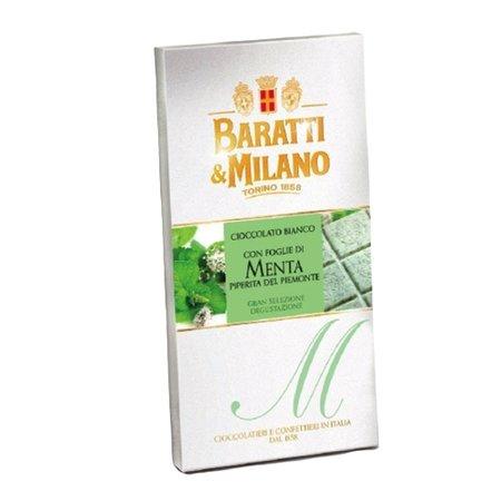 Ciocolata alba cu menta Baratti&Milano 75gr