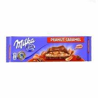 Ciocolata cu arahide si caramel Milka 276g