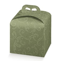 Cutii cadou cu maner Damascato Verde 200*200*180mm