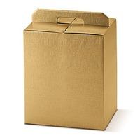 Cutii cadou Portapanettone mare Seta oro 305*225*350mm