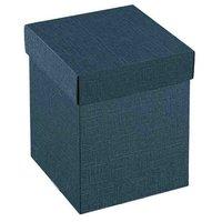 Cutii patrate cu capac medii Juta blu 200*200*110mm