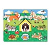 Puzzle din lemn Animalele de companie