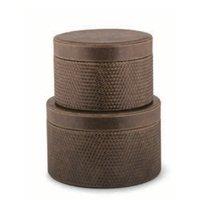 Set cutii rotunde piele ecologica